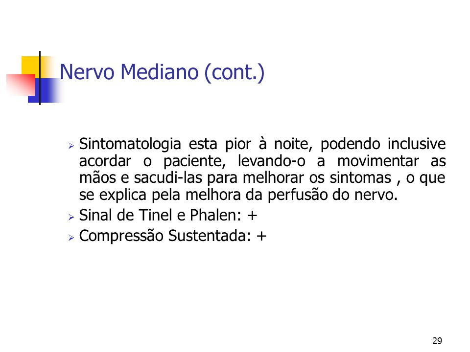 Nervo Mediano (cont.)
