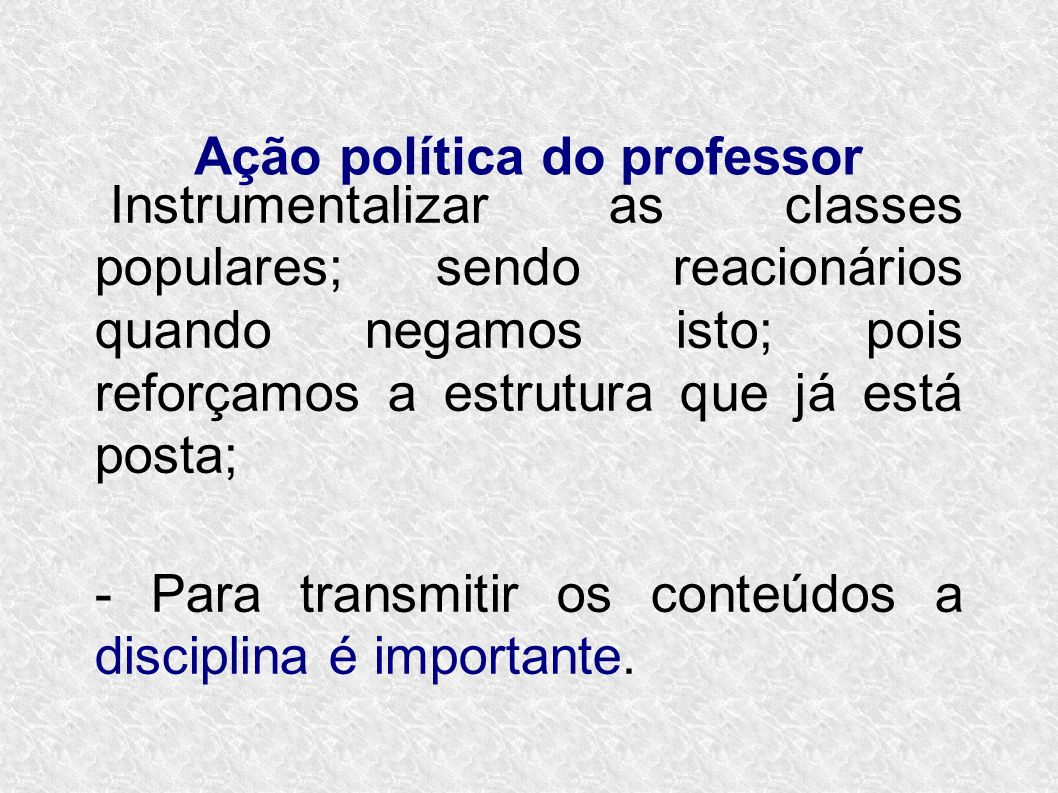 Ação política do professor