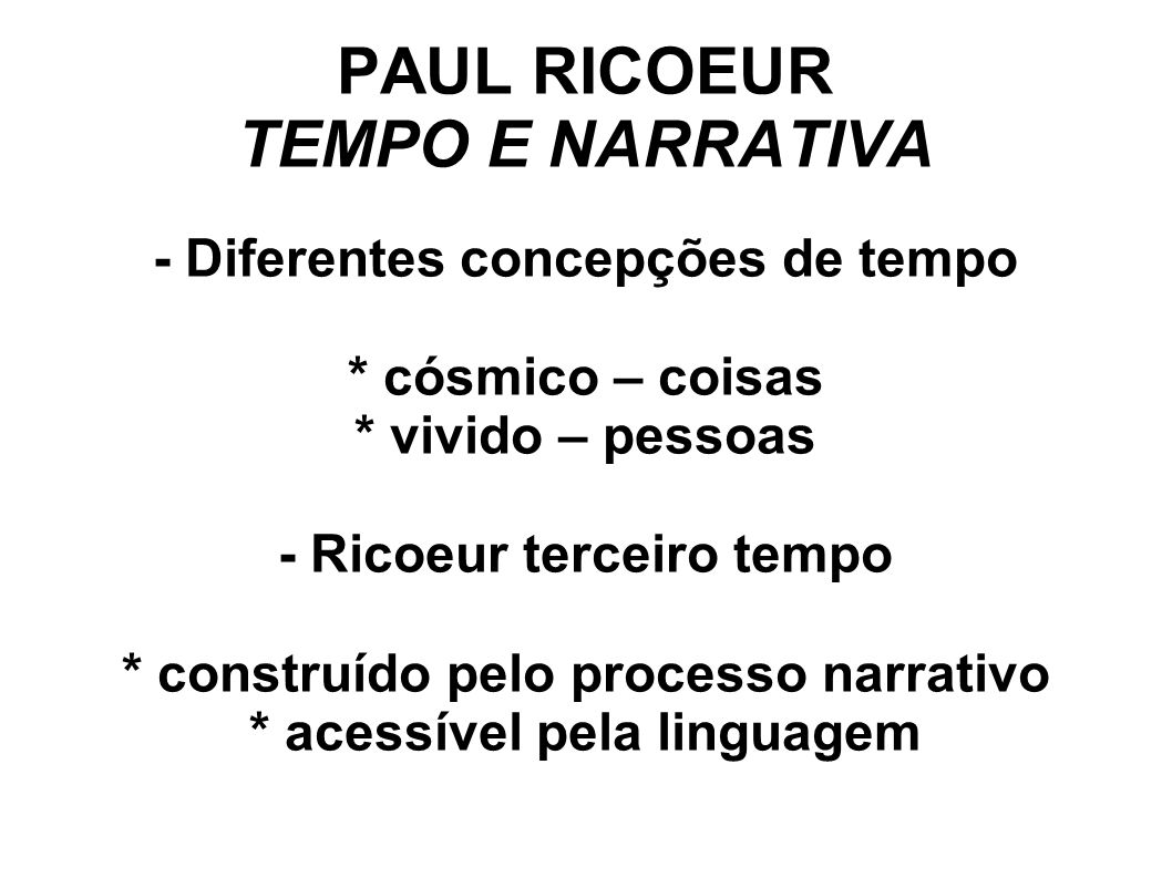 PAUL RICOEUR TEMPO E NARRATIVA