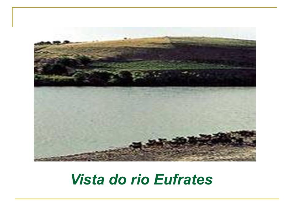Vista do rio Eufrates