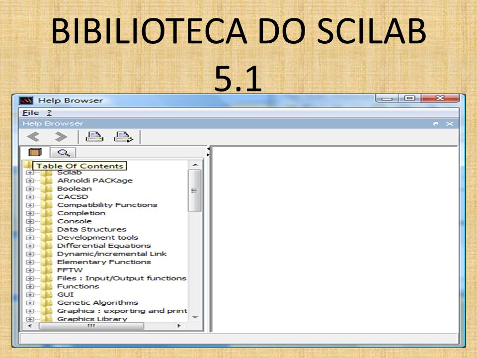 BIBILIOTECA DO SCILAB 5.1