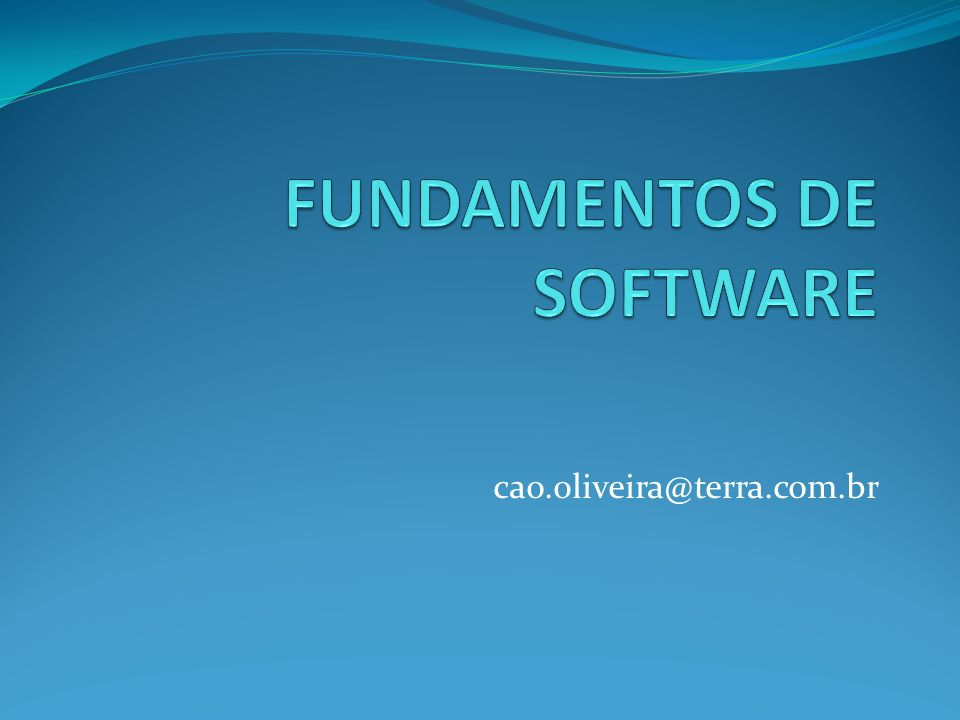 FUNDAMENTOS DE SOFTWARE