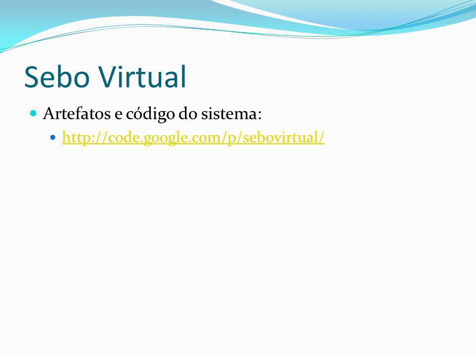 Sebo Virtual Artefatos e código do sistema: