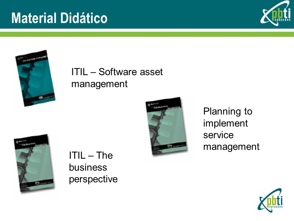 Material Didático ITIL – Software asset management