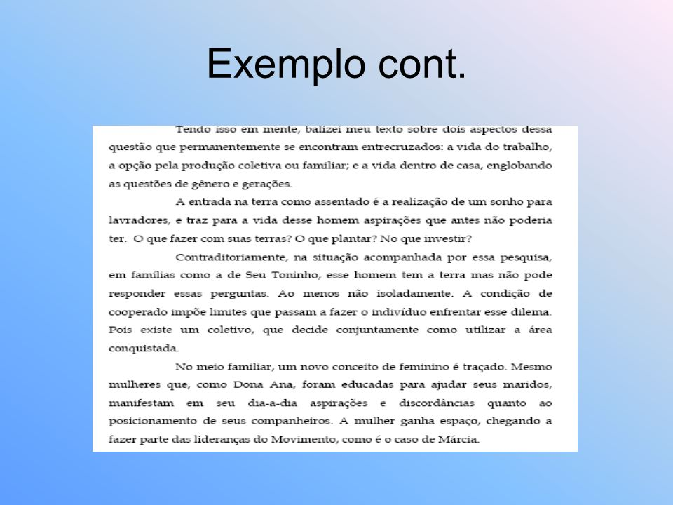 Exemplo cont.