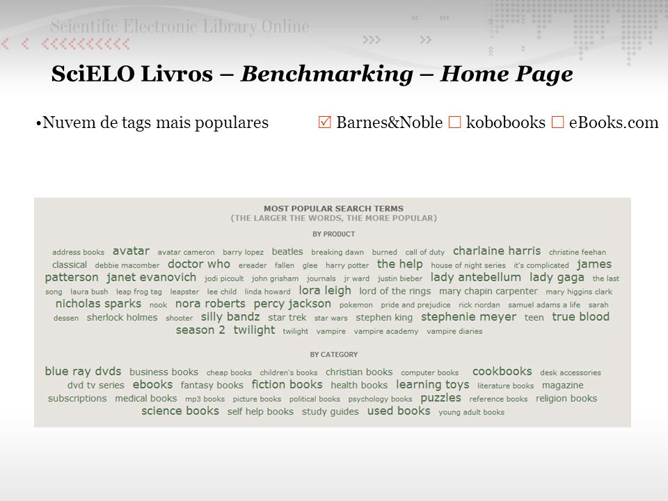 SciELO Livros – Benchmarking – Home Page