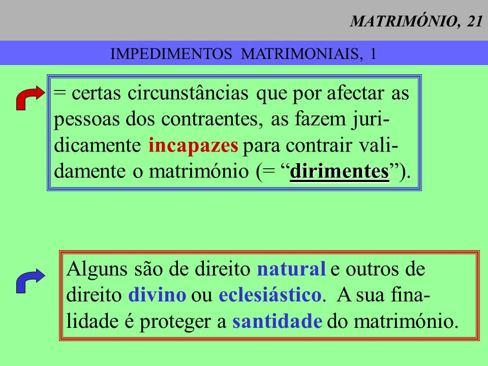 IMPEDIMENTOS MATRIMONIAIS, 1
