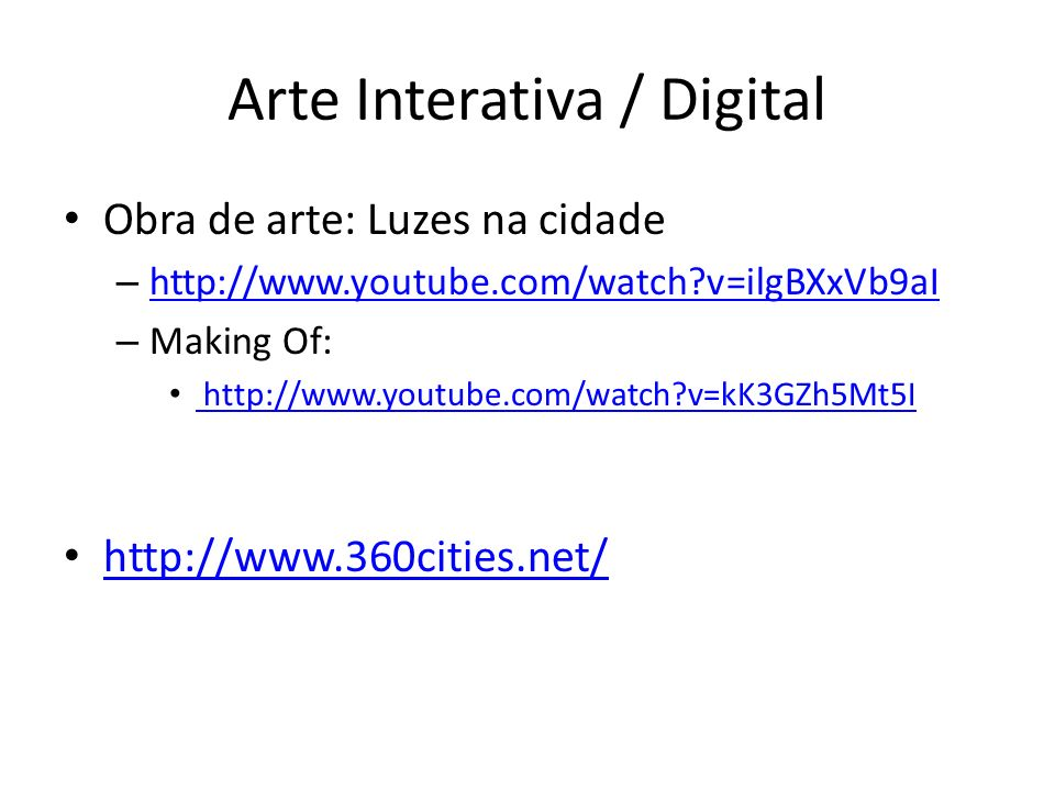 Arte Interativa / Digital