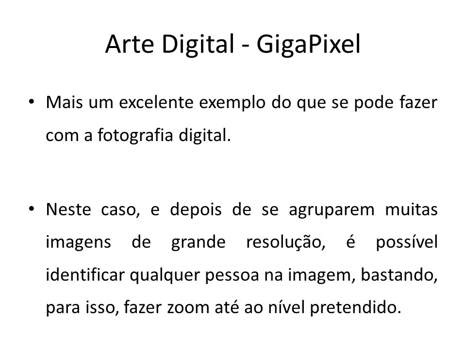 Arte Digital - GigaPixel