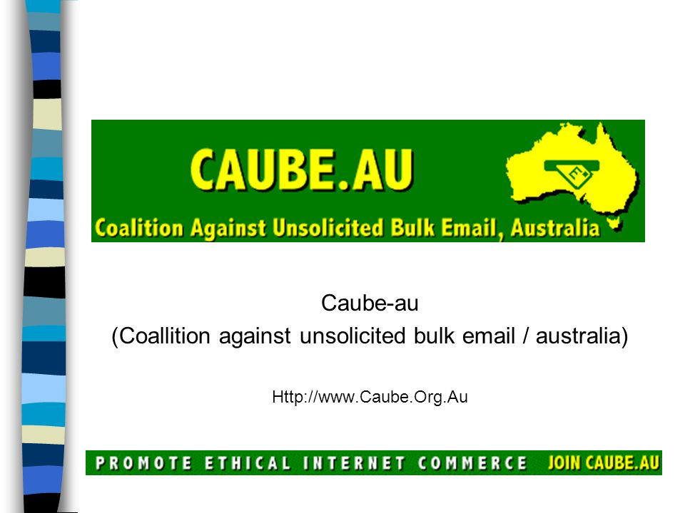 (Coallition against unsolicited bulk email / australia)