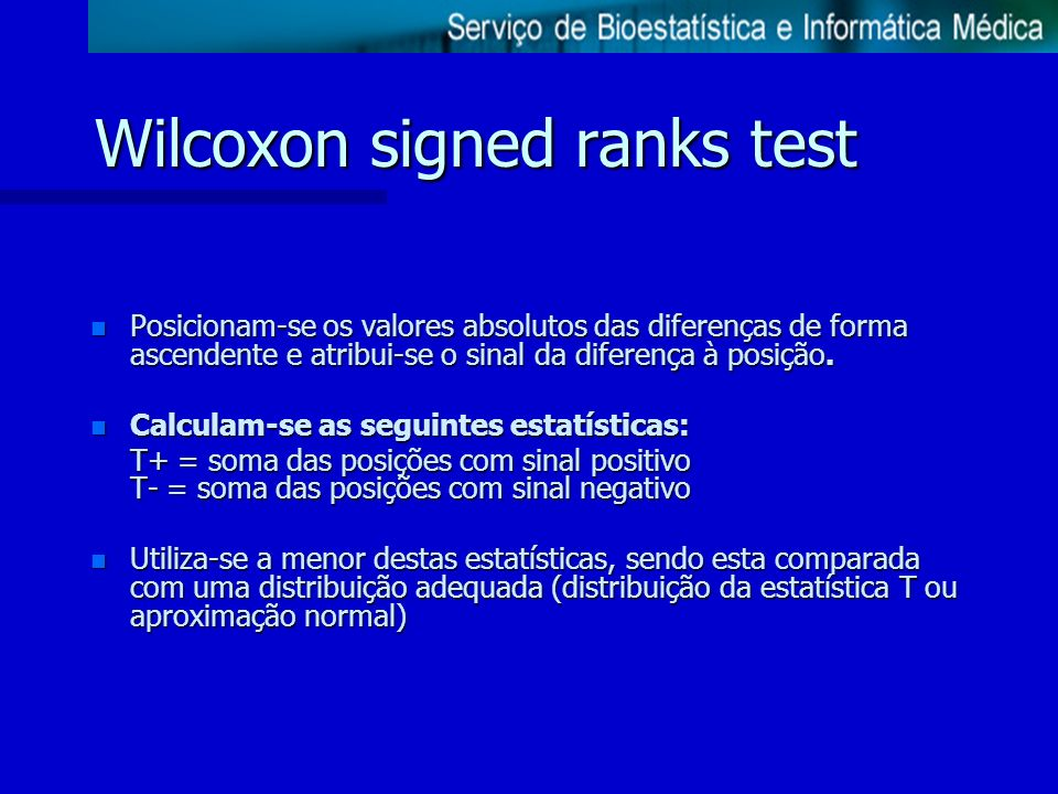 Wilcoxon signed ranks test
