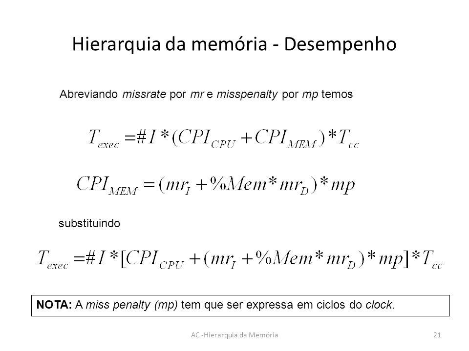 3e0ee846f7e Hierarquia da Memória  Conceitos Fundamentais e Desempenho - ppt ...