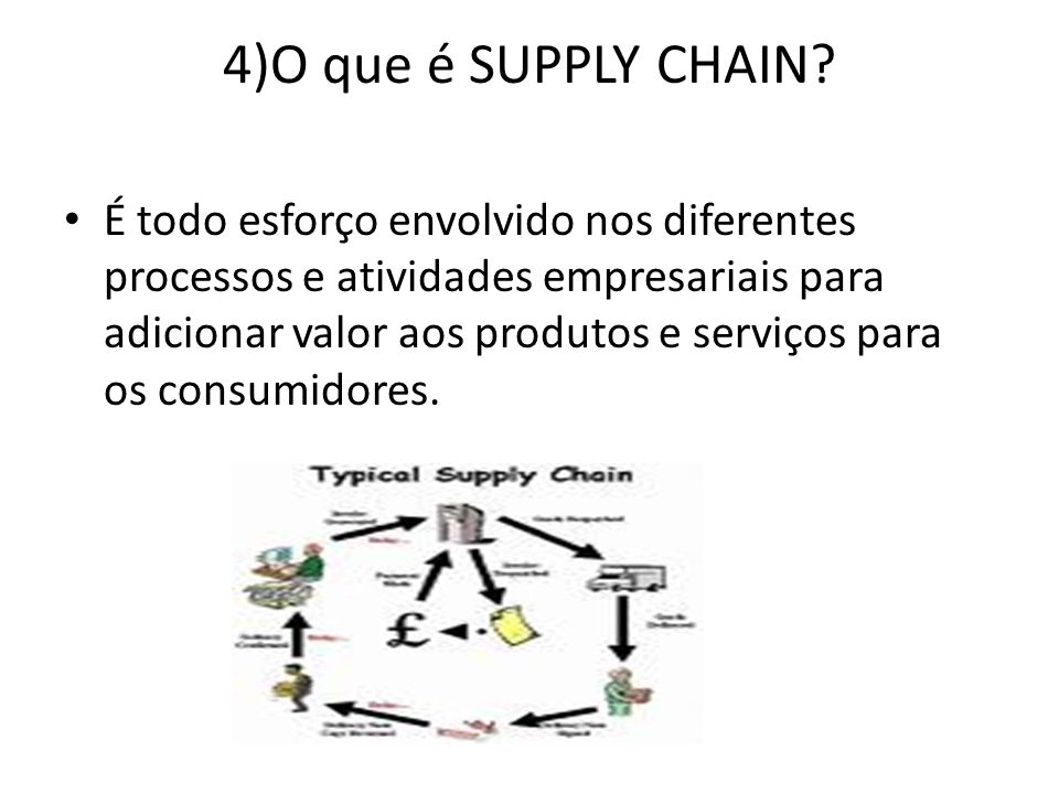 4)O que é SUPPLY CHAIN