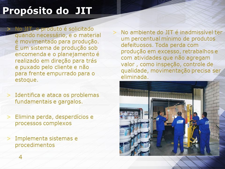Propósito do JIT
