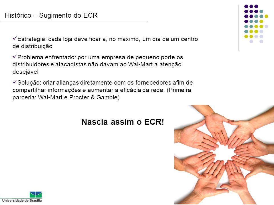 Histórico – Sugimento do ECR