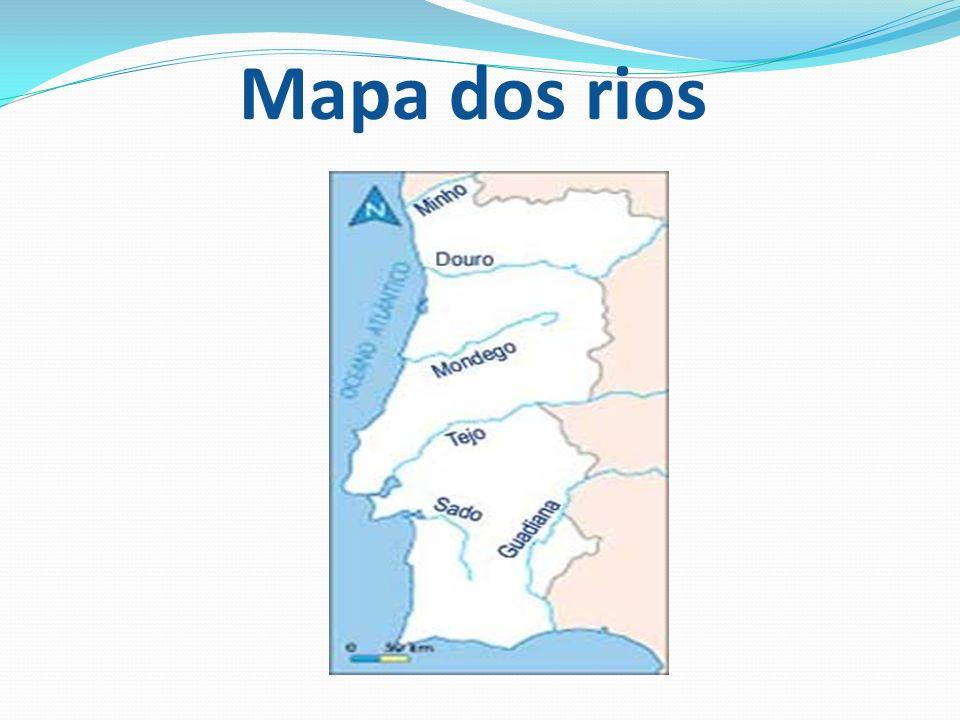 mapa com os rios de portugal Potencialidades dos Rios de Portugal   ppt carregar mapa com os rios de portugal