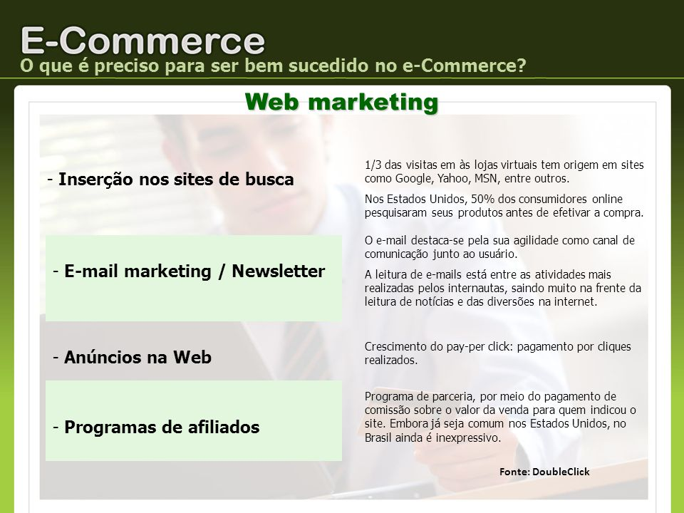 Web marketing O que é preciso para ser bem sucedido no e-Commerce