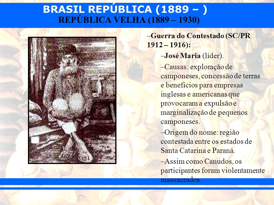 Guerra do Contestado (SC/PR 1912 – 1916):
