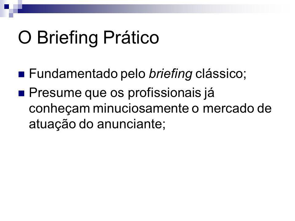 O Briefing Prático Fundamentado pelo briefing clássico;
