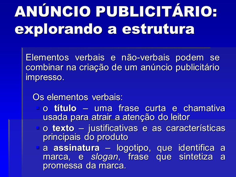 LÍNGUA PORTUGUESA ANÚNCIO PUBLICITÁRIO PROF  JESWESLEY