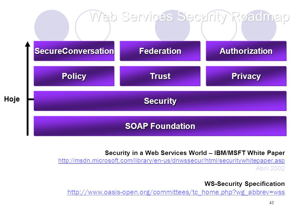 Web Services Security Roadmap