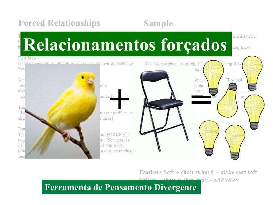+ = Relacionamentos forçados Forced Relationships Sample