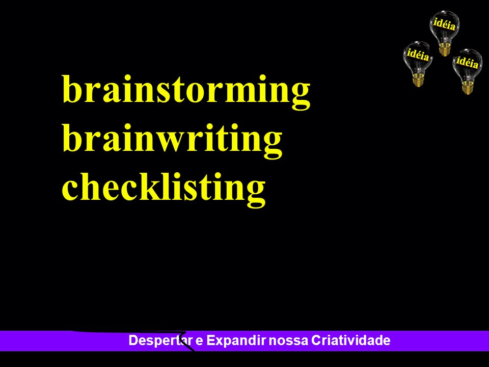 brainstorming brainwriting checklisting
