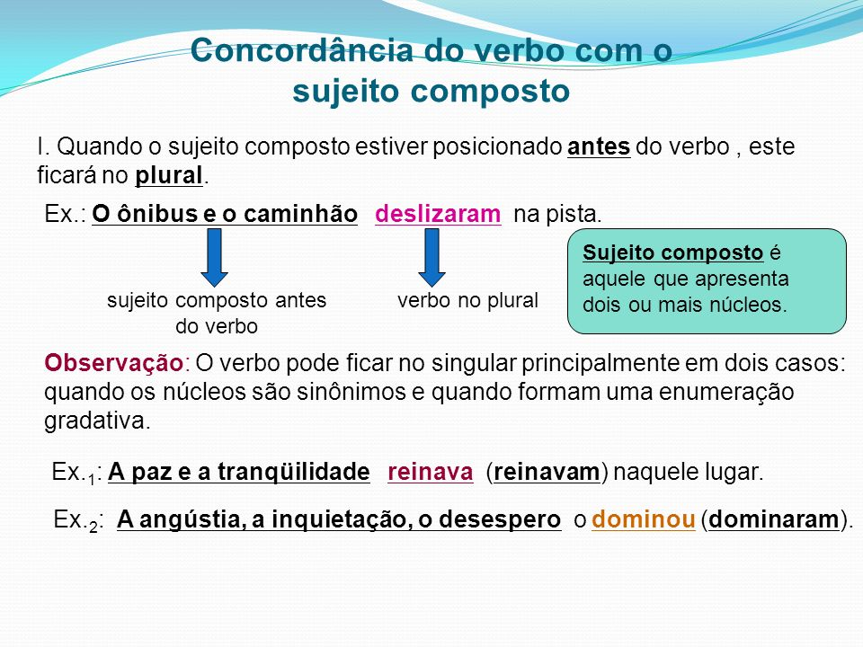 Concordância do verbo com o