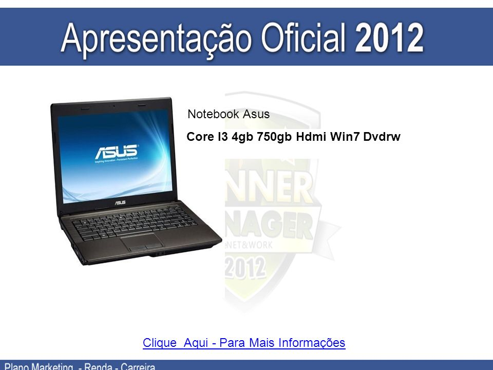 Core I3 4gb 750gb Hdmi Win7 Dvdrw
