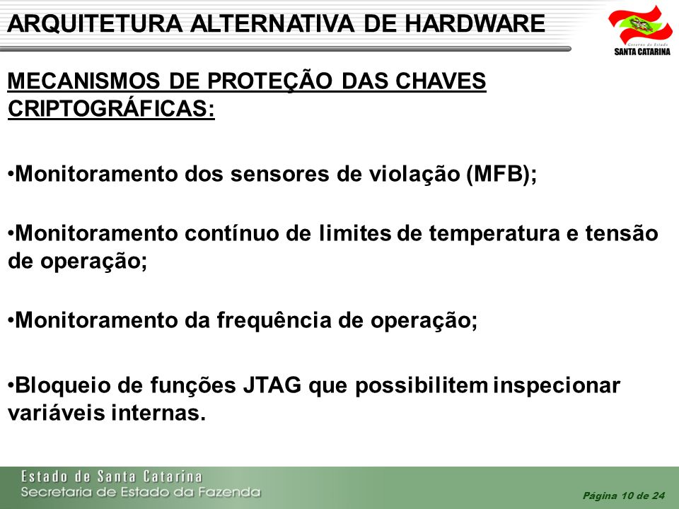 ARQUITETURA ALTERNATIVA DE HARDWARE