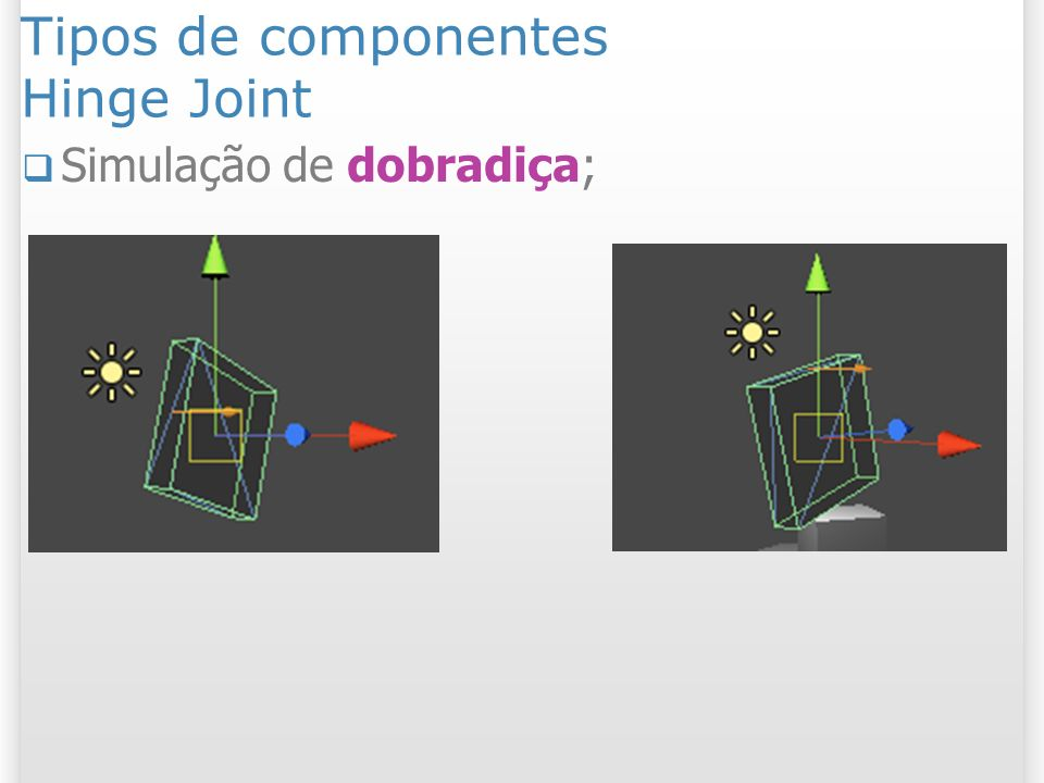 Tipos de componentes Hinge Joint