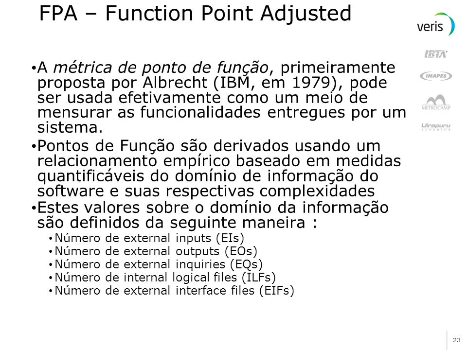 FPA – Function Point Adjusted