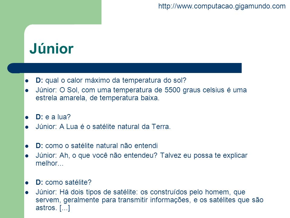 Júnior D: qual o calor máximo da temperatura do sol