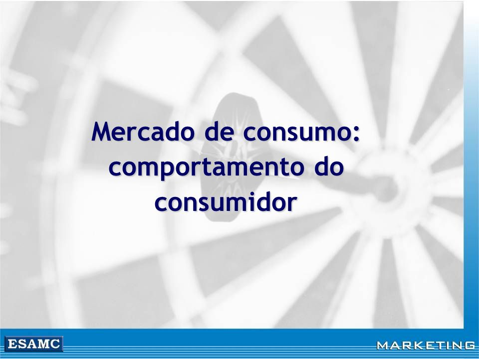 Mercado de consumo: comportamento do consumidor