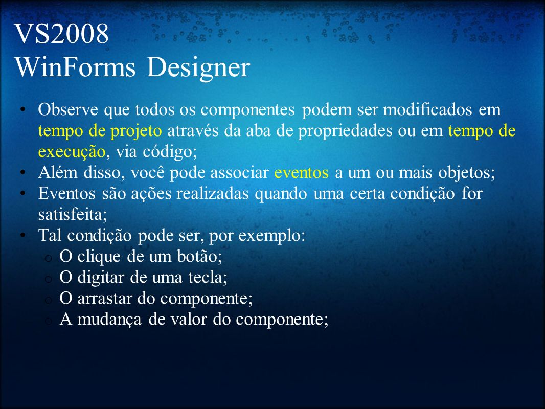 VS2008 WinForms Designer