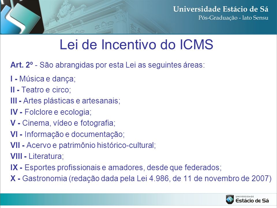 Lei de Incentivo do ICMS