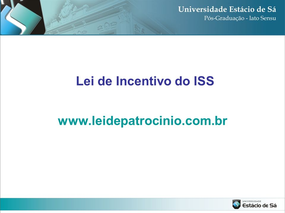 Lei de Incentivo do ISS
