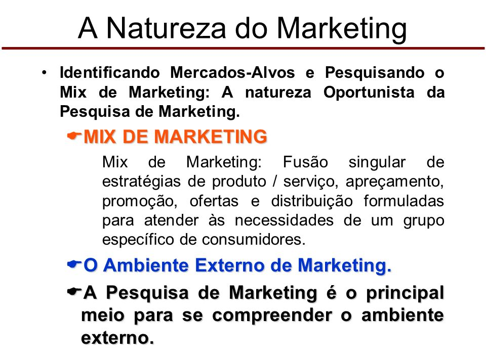 A Natureza do Marketing