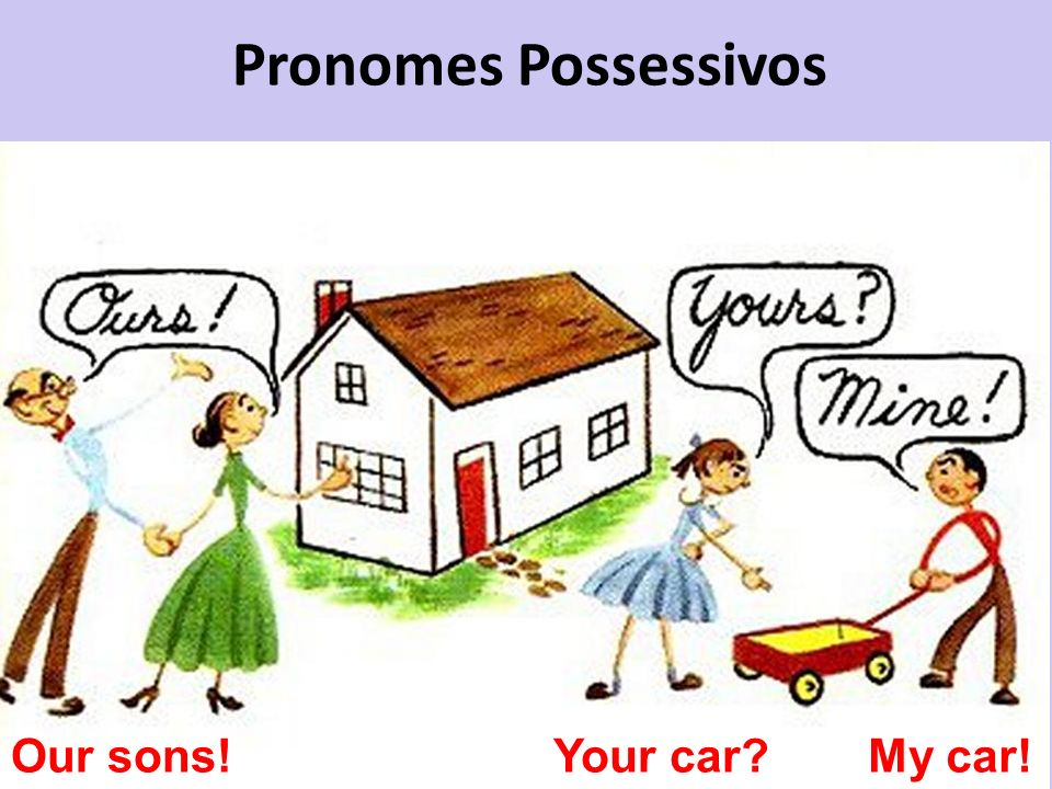 Pronomes Possessivos Our sons! Your car My car!