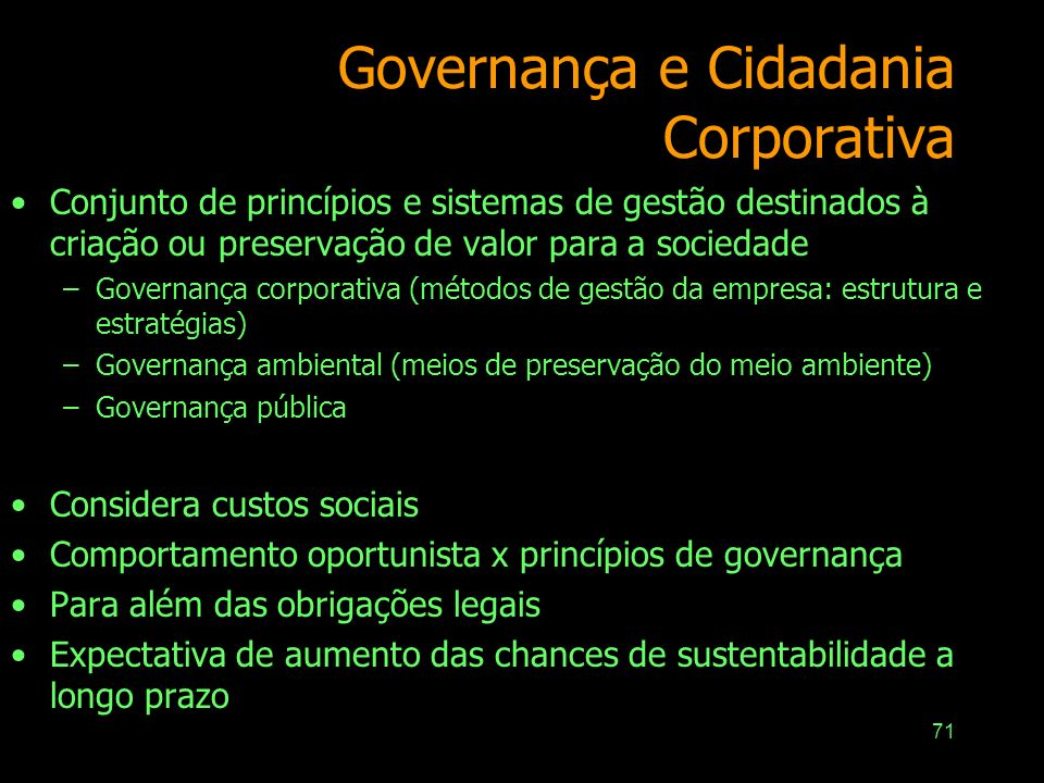 Governança e Cidadania Corporativa