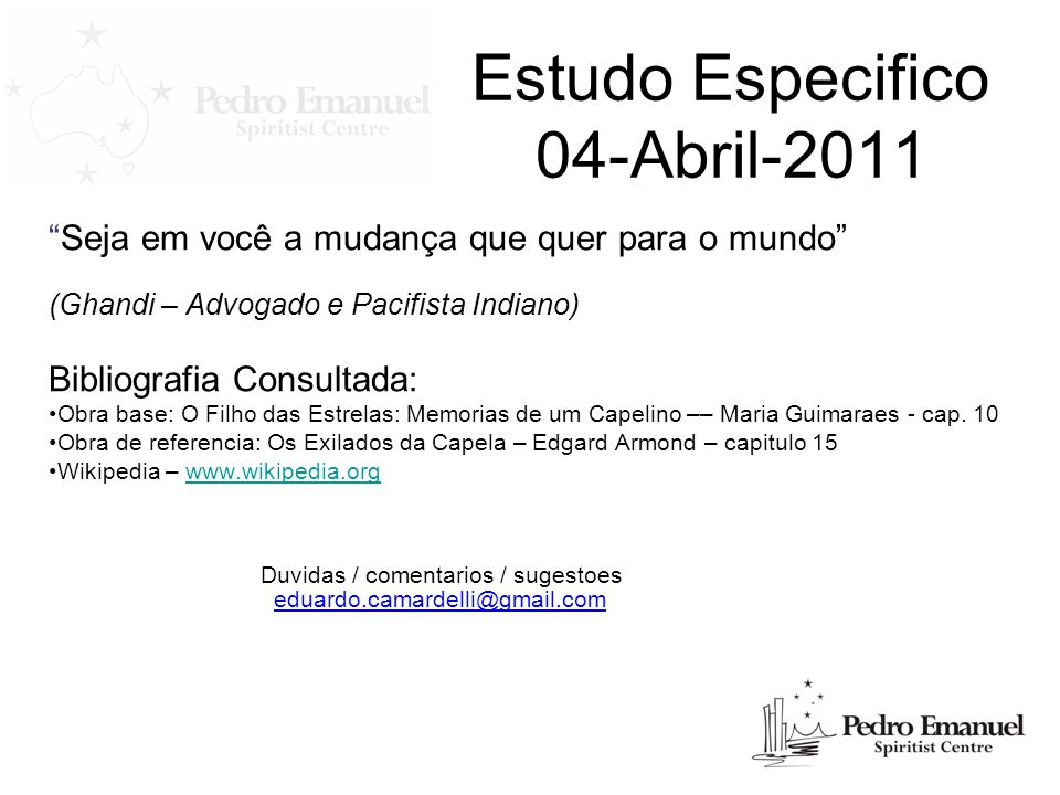 Estudo Especifico 04-Abril-2011