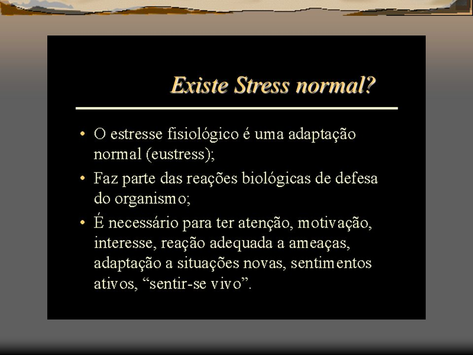 Existe Stress normal