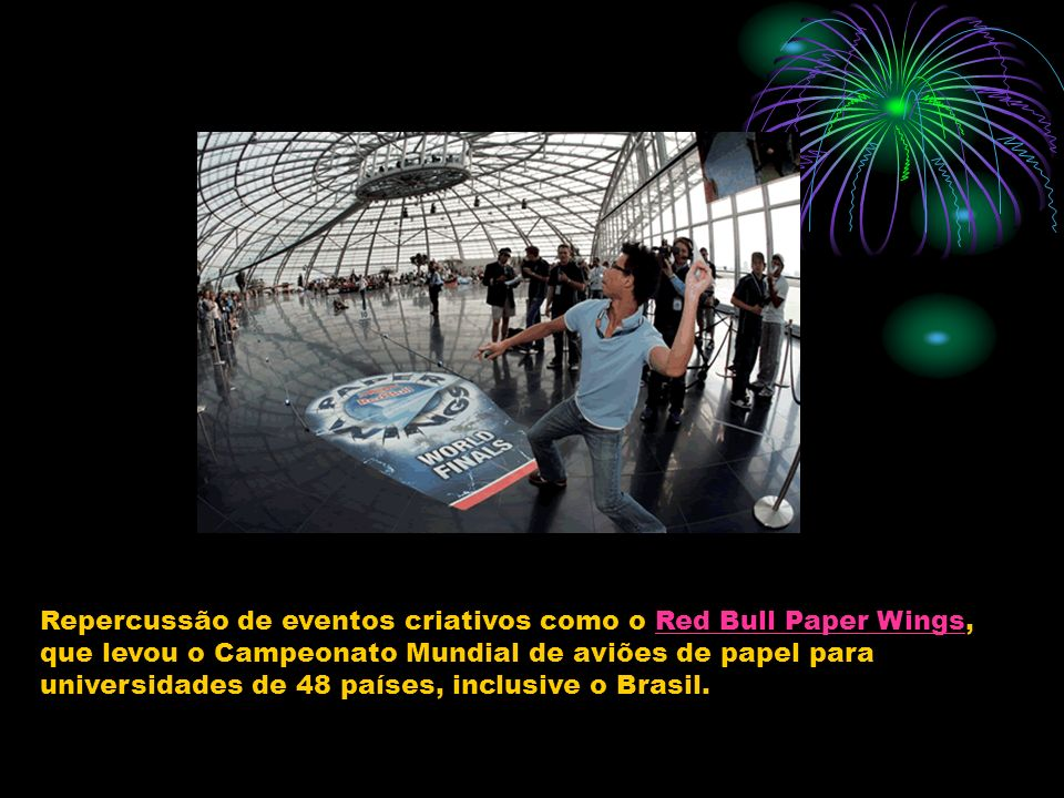 Repercussão de eventos criativos como o Red Bull Paper Wings,