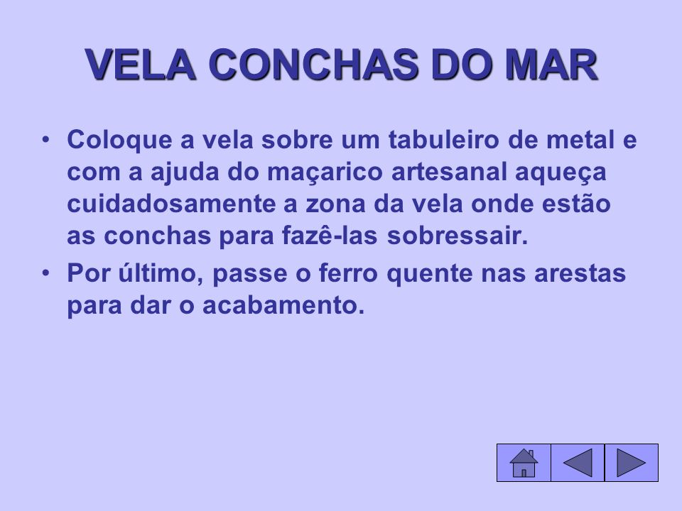 VELA CONCHAS DO MAR