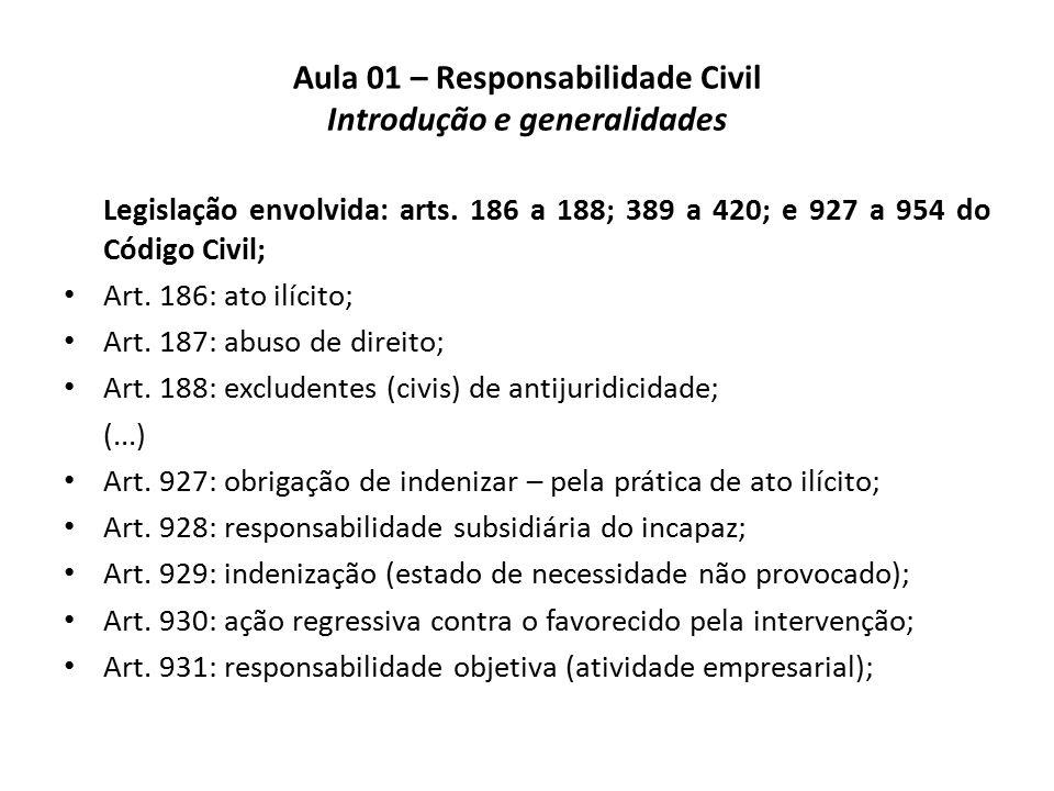 aula 01 \u2013 responsabilidade civil introdução e generalidades pptaula 01 \u2013 responsabilidade civil introdução e generalidades