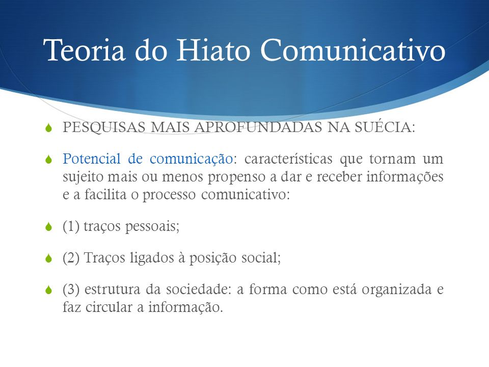 Teoria do Hiato Comunicativo