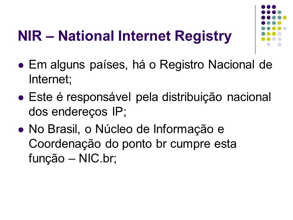 NIR – National Internet Registry