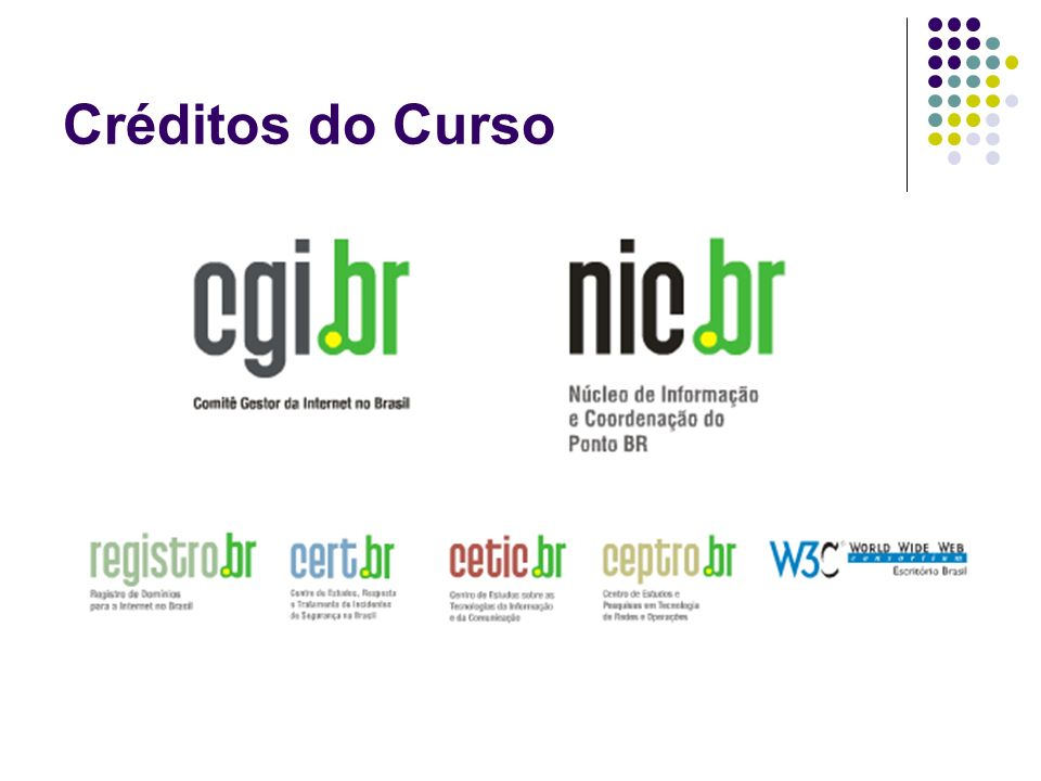 Créditos do Curso