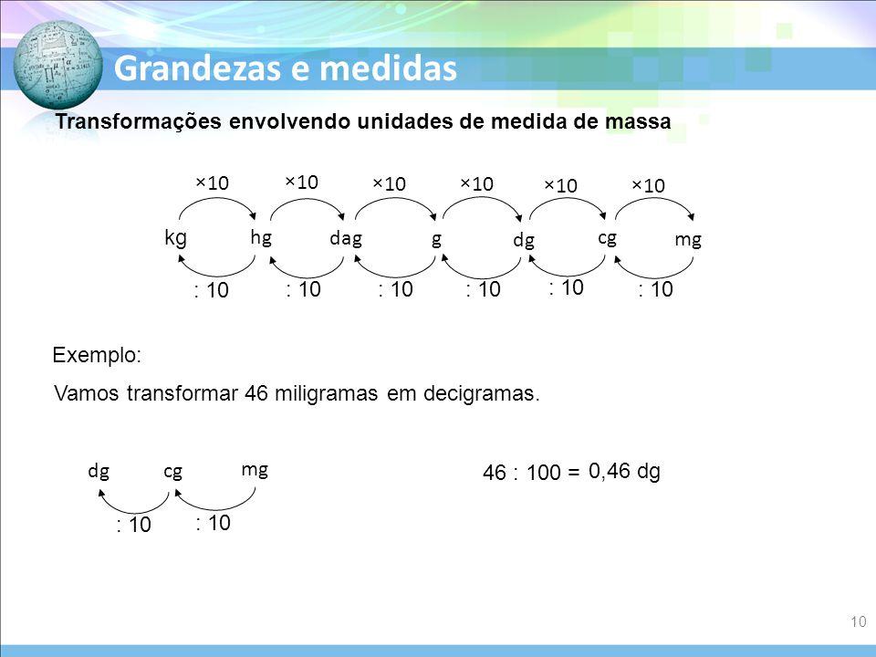 f177a9e50 Transformações envolvendo unidades de medida de massa