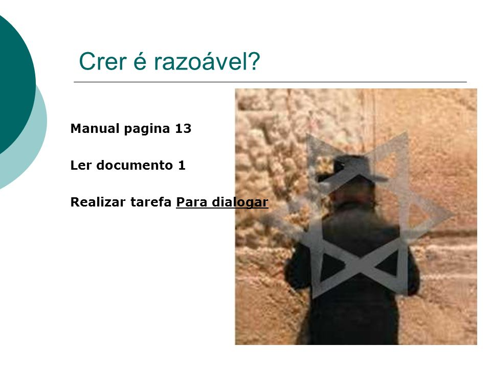 Crer é razoável Manual pagina 13 Ler documento 1